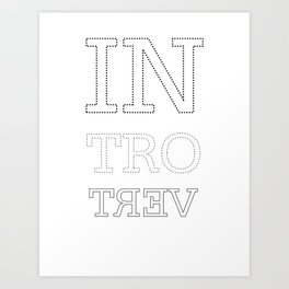 Dotted Introvert Art Print