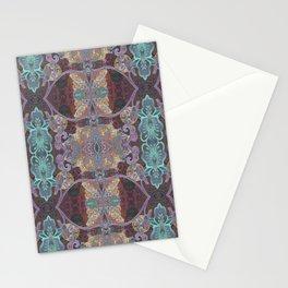 Tibetan Inspired Meditation Floral Print Stationery Cards