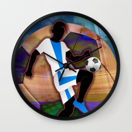 Soccer Player Silhouette Wall Clock