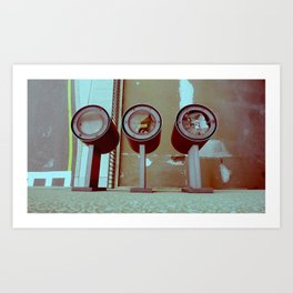 3 lights Art Print