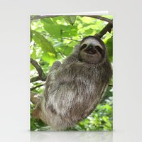 sloths Stationery Cards featuring Sloths in Nature by Amber Galore Design