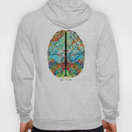 Colorful Brain Art - Just Think - By Sharon Cummings Hoody