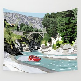 Shotover River, Queenstown, New Zealand Wall Tapestry