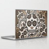 sugar skulls Laptop & iPad Skins featuring Sugar skulls by nicky2342