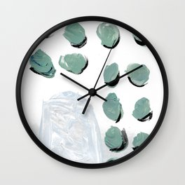 Abstract minimal building scape Wall Clock