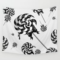 goth Wall Tapestries featuring Goth Lollies by All Is One