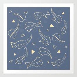 Triangleaves Art Print