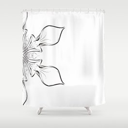 Digital drawing floral abstract design Shower Curtain