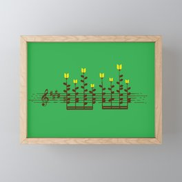 Music notes garden Framed Mini Art Print
