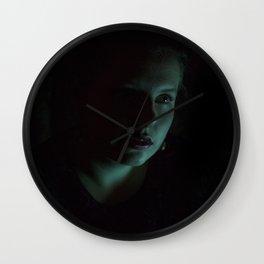 Teal Portrait Wall Clock