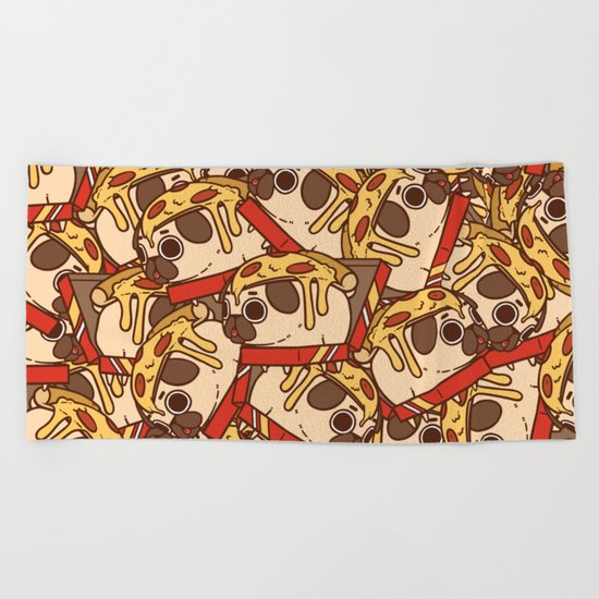 Puglie Pizza Beach Towel