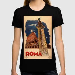 ENIT Roma Vintage Travel Poster T-shirt