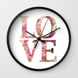 Love flowers Wall Clock