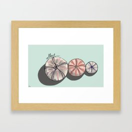 Sicilian sea urchins Framed Art Print