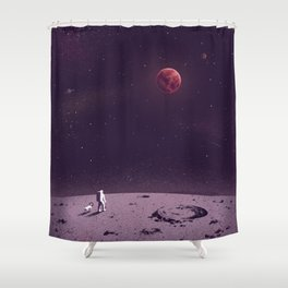 Life on Mars Shower Curtain