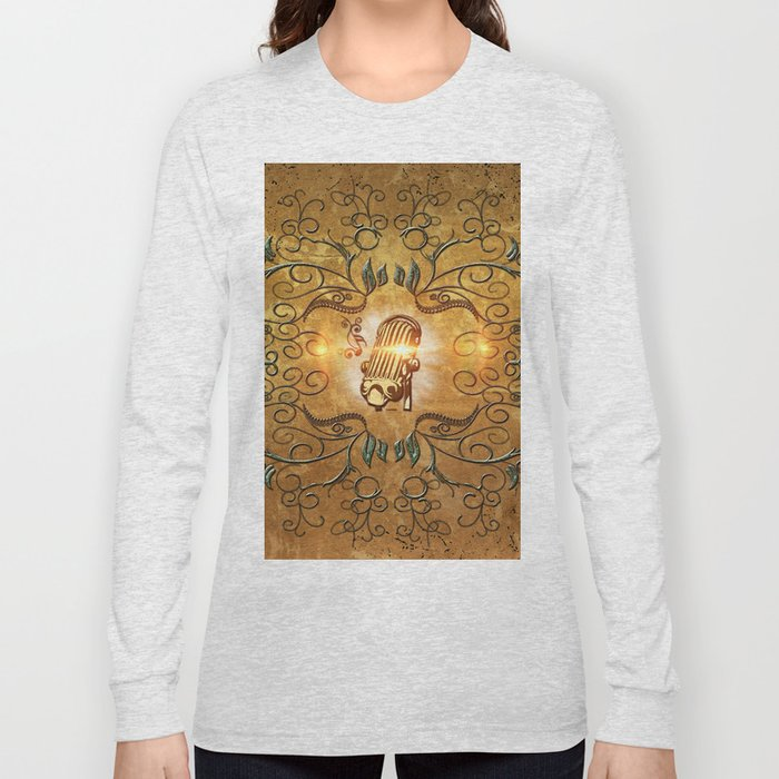 Music, microphone Long Sleeve T-shirt