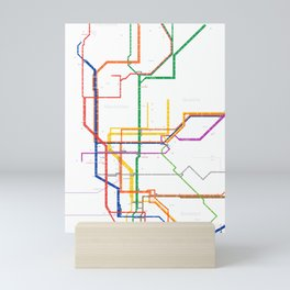 New York City subway map Mini Art Print