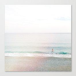 take a dip - Cinque Terre, Italy Canvas Print