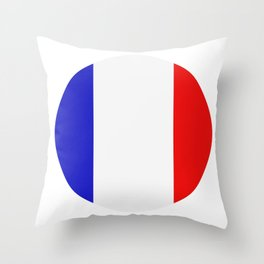 flag of france Throw Pillow
