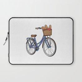 Womens bike with Basket & Bread Laptop Sleeve