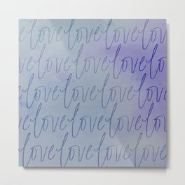 All the Blueberry Love Metal Print