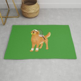 Ready for Tennis Practice (Green) Rug