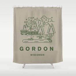 Gordon Wisconsin  Shower Curtain