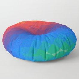 Polygonal Rainbow Floor Pillow