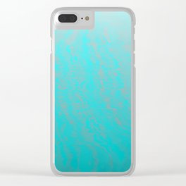 blue storm Clear iPhone Case