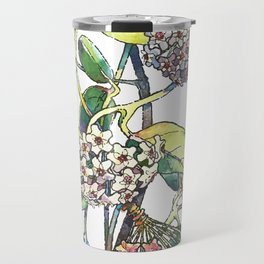 Light white-pink flower - HOYA Travel Mug