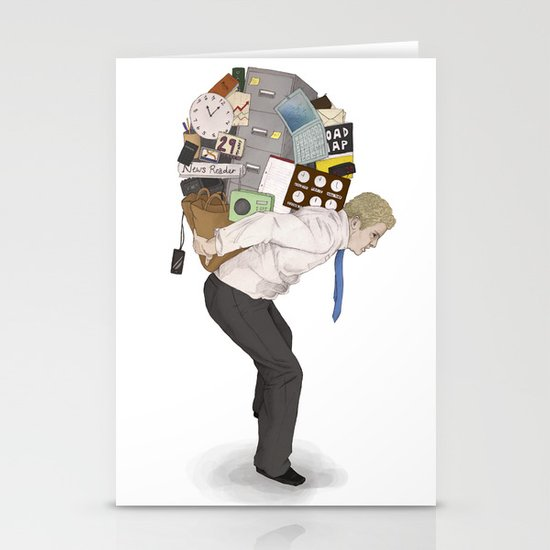 The Weight of Technology #2 Stationery Cards