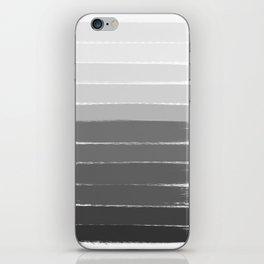 Portia - black and white gradient ombre brushstroke painting minimal art decor iPhone Skin