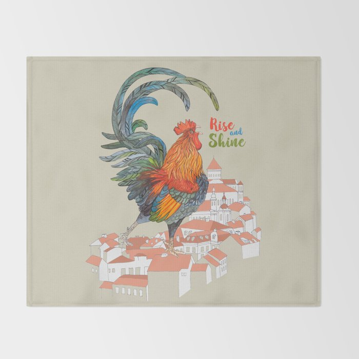 Rooster Throw Blanket