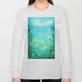 Undersea. Dolphins life Long Sleeve T-shirt
