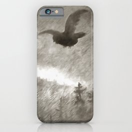 Stealth And Surprise Of The Night Owl iPhone Case
