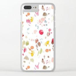 Splatter 02 Clear iPhone Case
