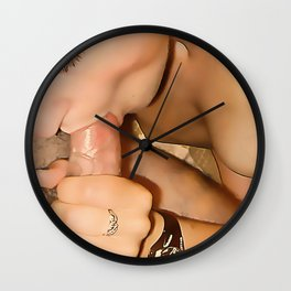 NSFW! Adult content! Cartoon sex play, deep, deep, even deeper color blow Wall Clock