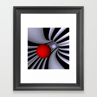 opart tunnel -4- Framed Art Print