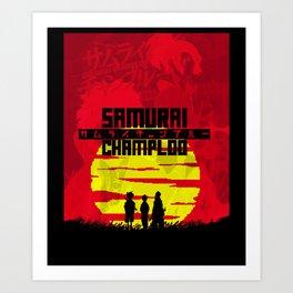 Crack Of Samurai Champloo Art Print