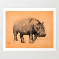 hippo Art Prints featuring Hippo by 1 of 20
