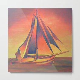 Sienna Sails at Sunset Metal Print
