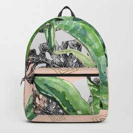 Abstract nature and geometrics Backpack
