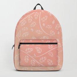 Coral Vine and Leaf Organic Pattern Backpack