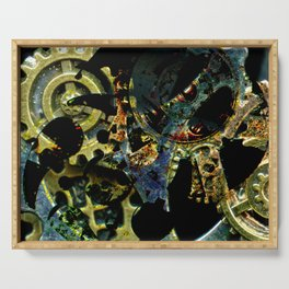 Tina's Steampunk Gears, Scanography Serving Tray