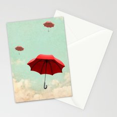 rising into the blue Stationery Cards