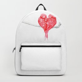 Red Heart Birds Love Backpack