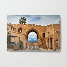 Moorish archway, Cabrera, Andalucia, Spain. Metal Print