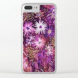 Eden Floral Purple Clear iPhone Case