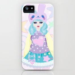 Kawaii Pink Bunny Girl iPhone Case