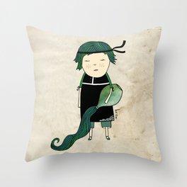 Aquarius Boy Throw Pillow